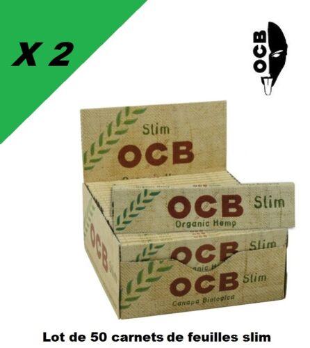 OCB Slim chanvre bio lots de 1 à 400 carnets de feuilles à rouler grande taille