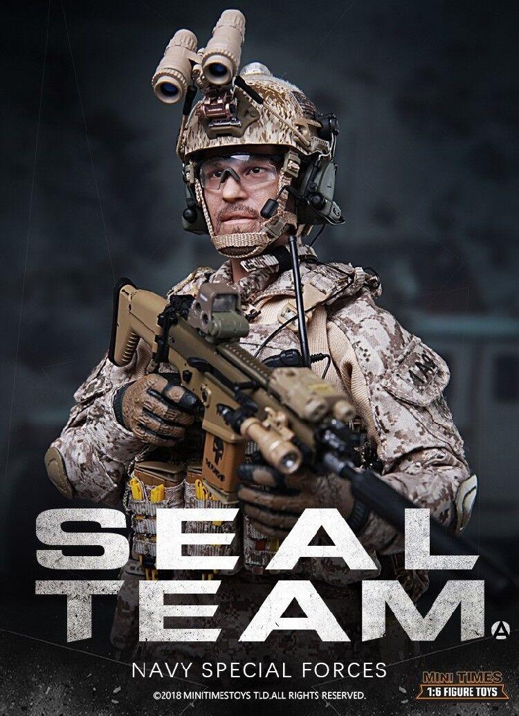 Mini tids leksaker Mt -M012 US Marine Spezialeithein Seal Team 1  6 Figur