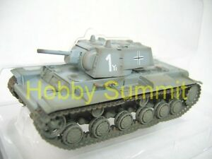 1-72-German-Army-WW2-KV-1-1941Tank-Captured-8th-Panzer-Divison-FInished-Model