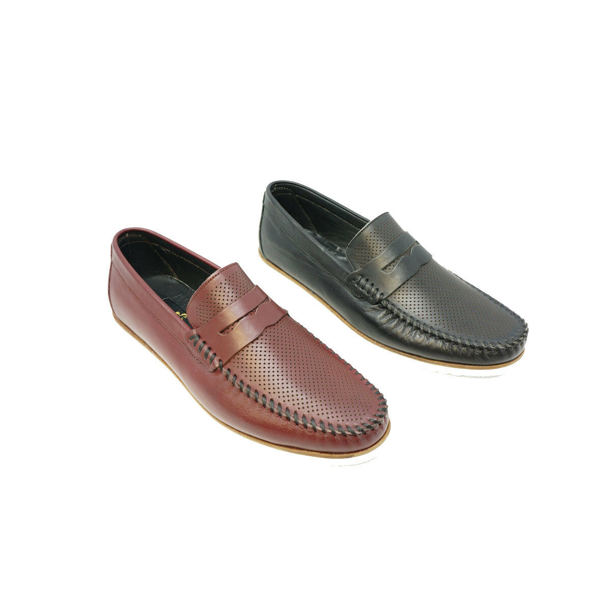 Futoli homme en cuir véritable Nouvelle Collection Mocassin Enfiler chaussures Handmade