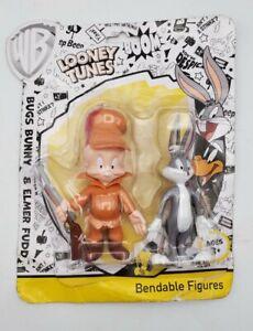 Warner Brothers Looney Tunes Bugs Bunny & Elmer Fudd Bendable Figures