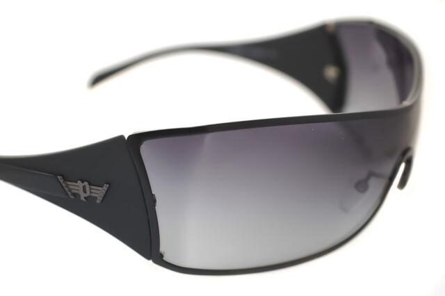 e0ae24c4530 POLICE S8826 0531 Mens LARGE Wraparound Sunglasses BLACK GRADIENT GREY