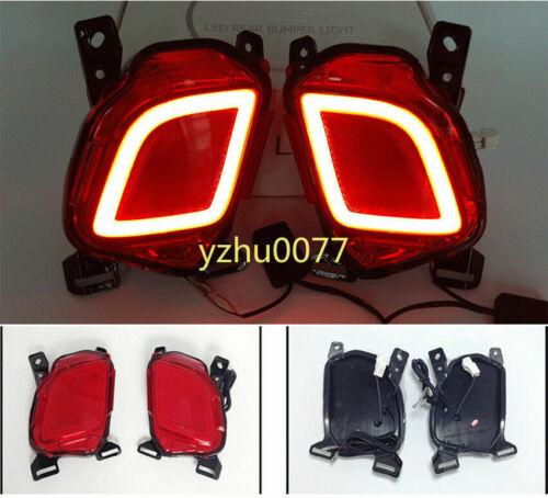 2015-2019 For Toyota Highlander LED Rear Fog Light Tail Bumper Light 2PCS//Sets