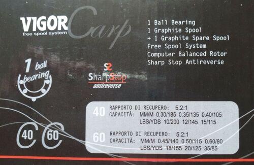 Angelrolle  mit E-Spule VIGOR CARP 40 Karpfenrolle 2 Stück Freilaufrolle
