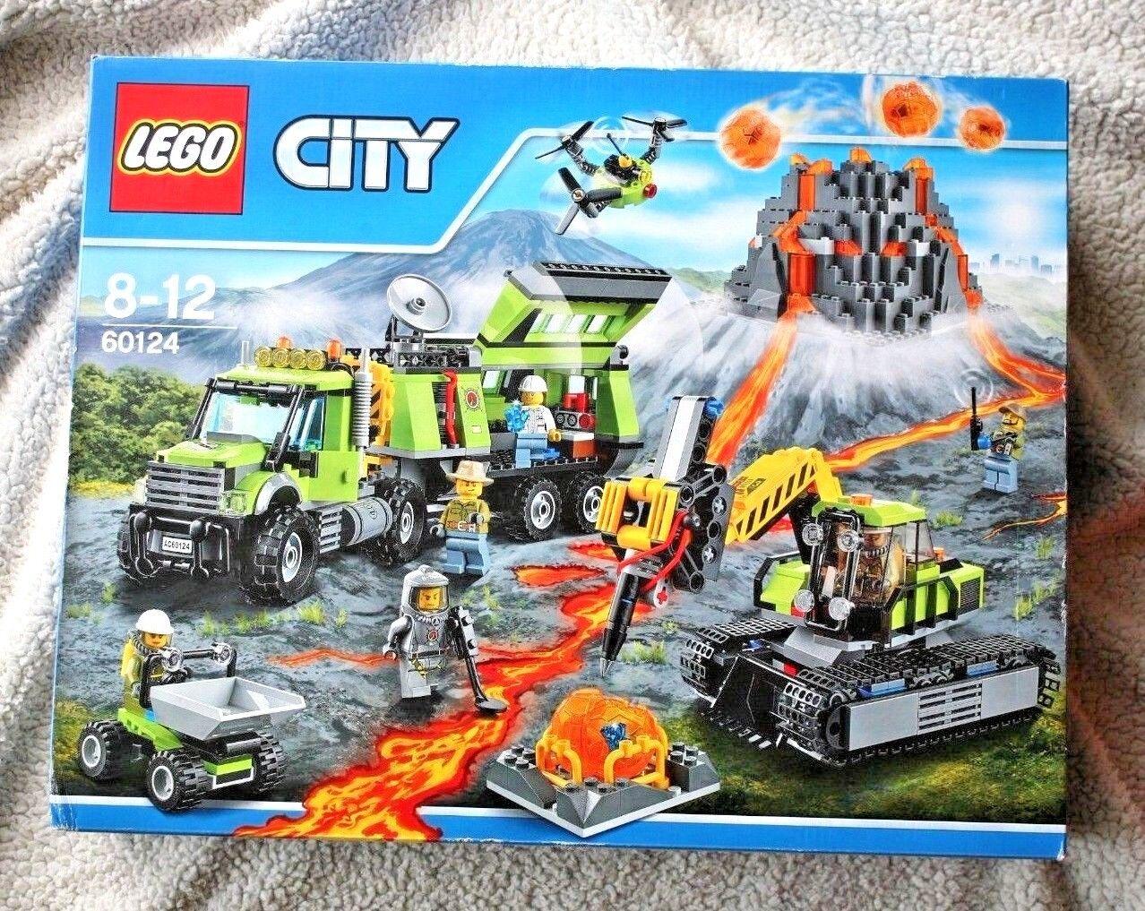 LEGO City: VULCANO esplorazione di base  60124 . e sigillati Nuovo di zecca