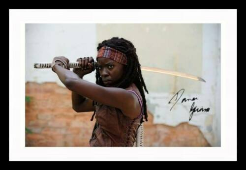 DANAI GURIRA THE WALKING DEAD AUTOGRAPHED SIGNED /& FRAMED PP POSTER PHOTO