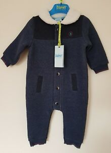 e2b1fdde5f7d Ted Baker Baby Boys  Padded snugglesuit All in one. 3-6