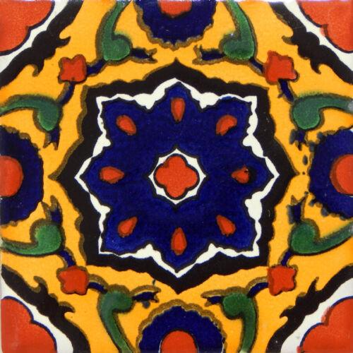 Mexican Tile Folk Art Handmade Talavera Backsplash Handpainted Mosaic # C302