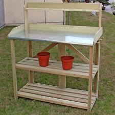 Item 5 Outdoor Garden Wooden Potting Work Bench Station Planting Workbench  W/ 3 Shelf  Outdoor Garden Wooden Potting Work Bench Station Planting  Workbench ...