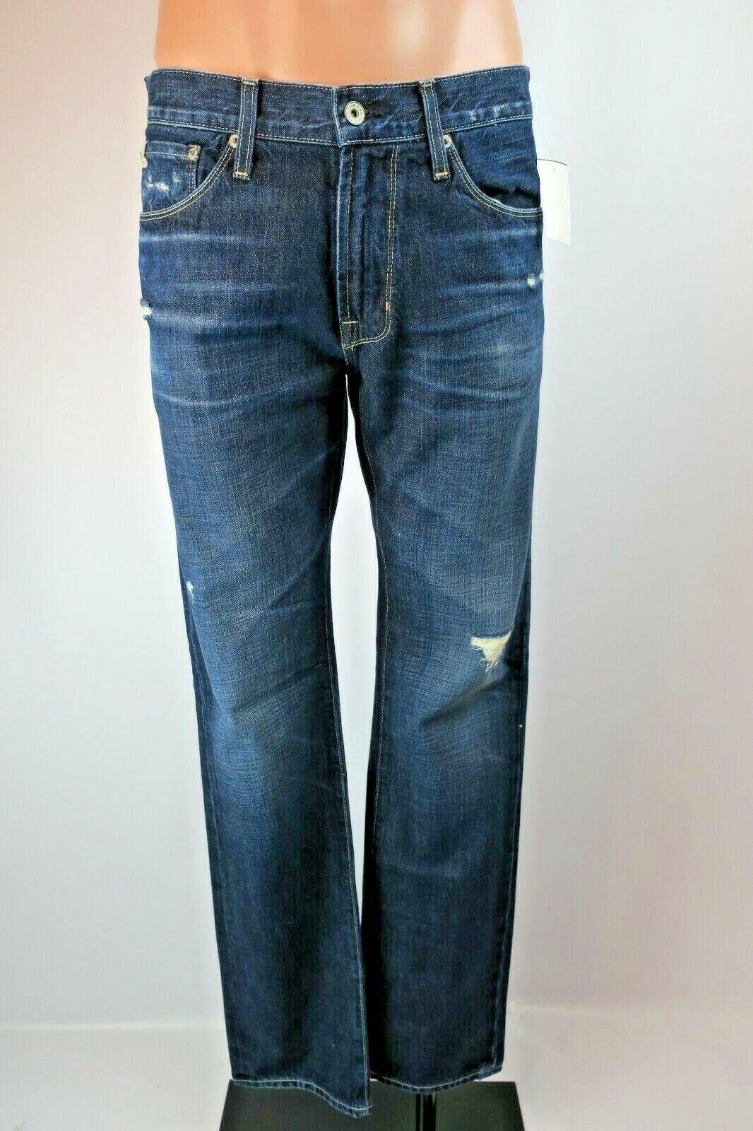 BIG STAR Division Straight Jeans Men SAMPLES 34x34 Distressed Denim Wash NWT NEW