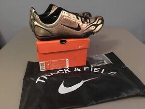 5570ecdca78c NIB Mens Nike ZOOM MAXCAT Track   Field Track Spikes (307096) Gold ...