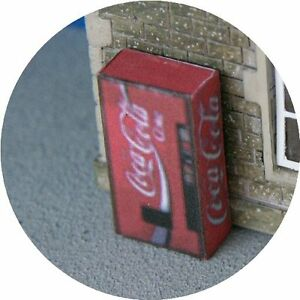 OO-GAUGE-COKE-COLA-CAN-VENDING-MACHINE-FOR-HORNBY-MODEL-RAILWAY-STATION-LAYOUT