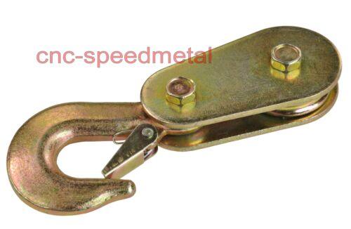 200kg Umlenkrolle Umlenkrollen m federbelastetem Bügel Seil 6mm goldverzinkt