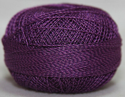 Lizbeth Twirlz 100% Egyptian Cotton Thread - Size 20 - 402 Purple Berry
