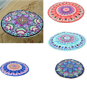 boh me lotus rond mandala jet de lit hippie tapis yoga serviette plage nappe uk ebay. Black Bedroom Furniture Sets. Home Design Ideas