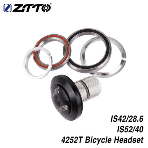 """ZTTO 4252T Bicycle Headset 42//52mm CNC 1 1//8/""""-1 1//2/"""" MTB Bike Road Tapered Tube"""