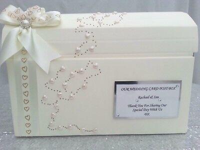 Pearl Wedding Card Post Box, Birthday Christening Anniversary Party Wishing Well