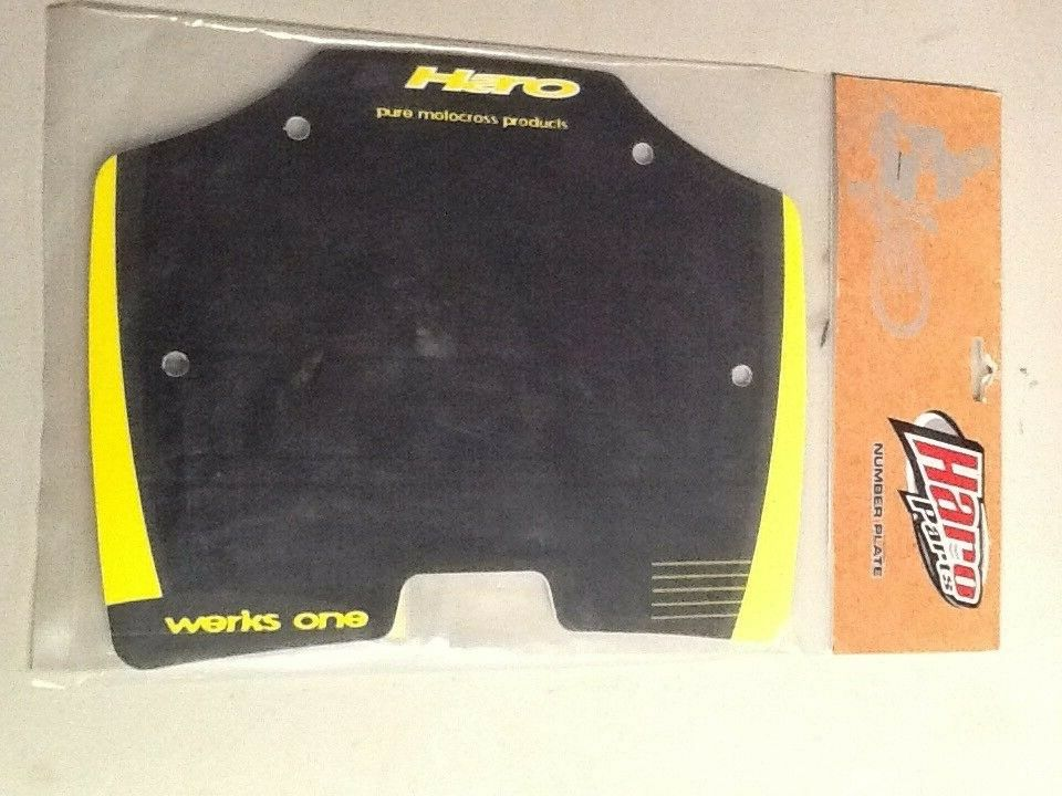 VINTAGE  HARO   WERKS ONE MID SCHOOL BMX NUMBER PLATE  NOS MID ORIGINAL ISSUE  wholesale cheap and high quality