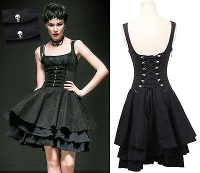 EN STOCK! Robe jupe corset gothique punk lolita burlesque tête de mort Punkrave