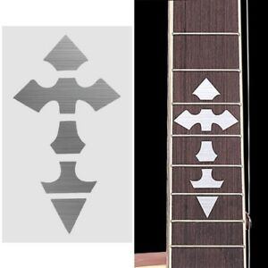 Cross Inlay Decals Fretboard Sticker For Electric Acoustic Guitar Accessories