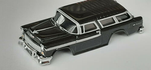 NOS Autoworld Xtraction Black 55 Chevy NoMad HO Slot Car Body Fit Aurora AFX