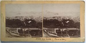 Marsiglia Vista Dei Isole Francia Fotografia Stereo Vintage Albumina