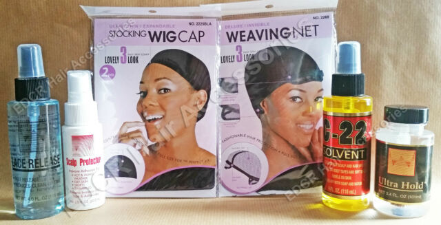 Lace Front Toupee KIT* ALL IN ONE SET Special OFFER* BEST BARGAIN *Ultra Hold*