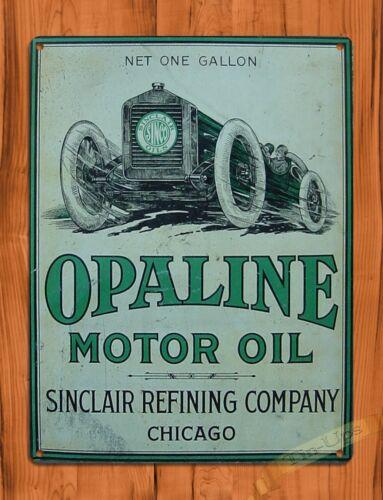 "TIN SIGN /""Opaline Motor Oil/"" Car Vintage Garage Wall Decor Auto"