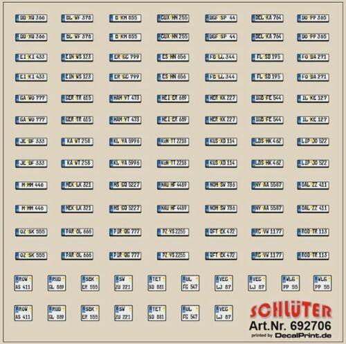 Decals Kfz-Kennzeichen Deutschland 6 x 6 cm