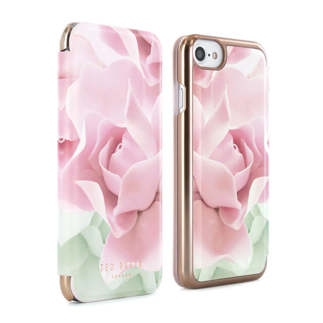 5d0bb844f OFFICIAL TED BAKER Womens Floral Folio Case Cover fits iPhone 7   6S KNOWAI  Nude