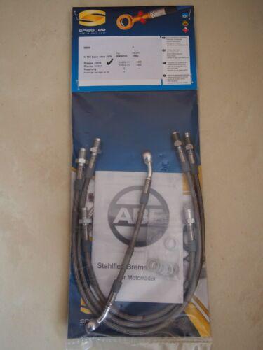 BMW K 100 basic BMW100 SPIEGLER STAHLFLEX vorne /& hinten ABE NEU brake hose D293