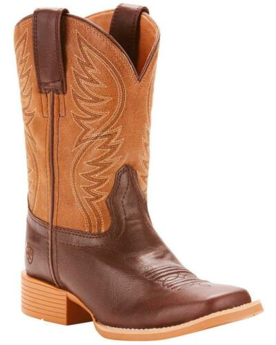 Ariat Kids Brown With Tan Top Cowboy Boots