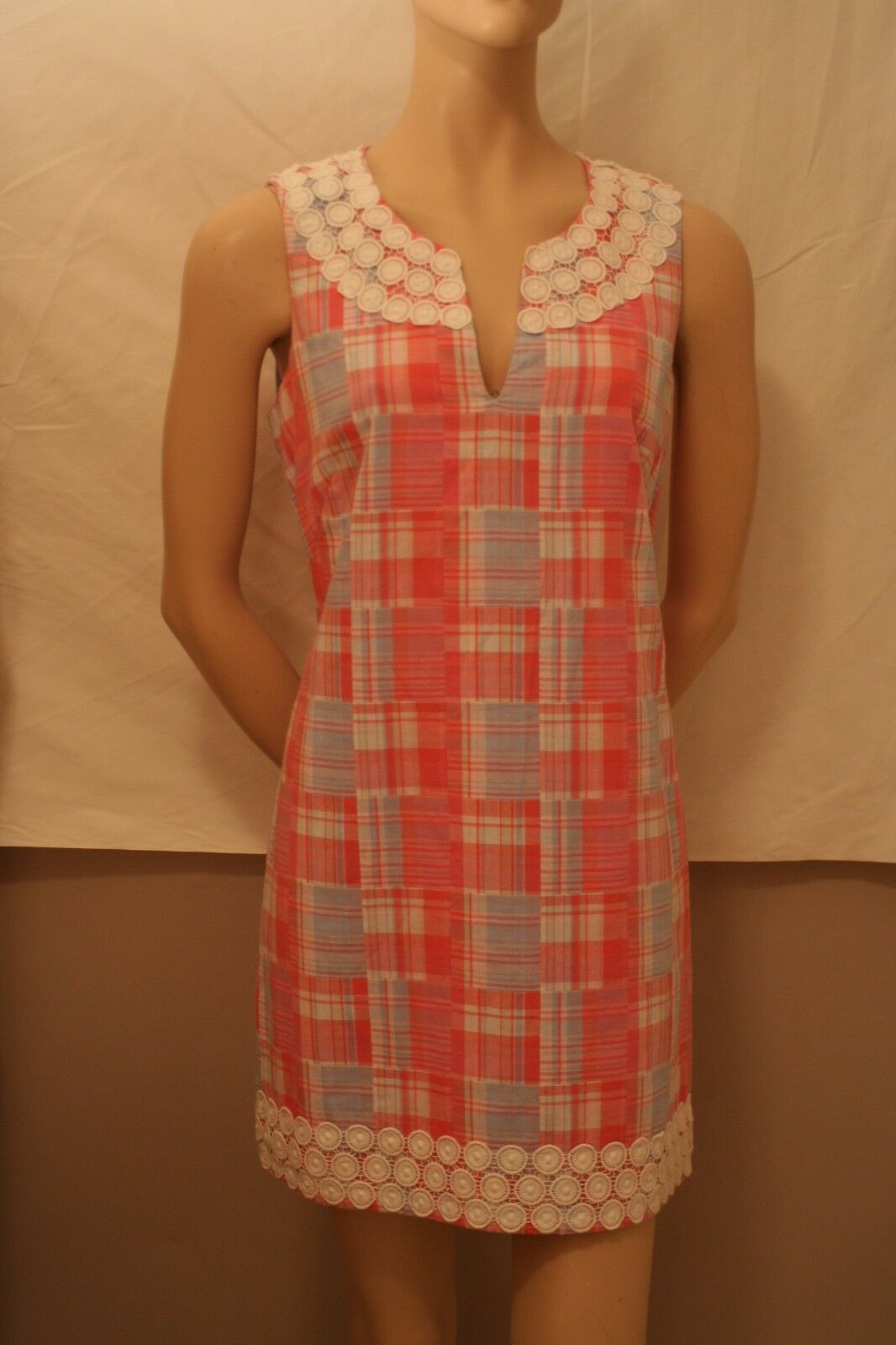 Vineyard Vines Gingham Patterned Dress  Size 6