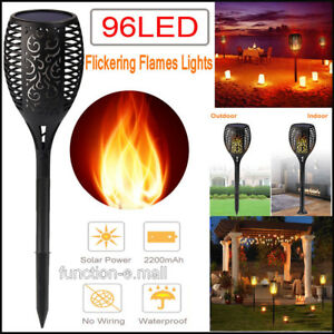 1-10Pcs-96-LED-Dancing-Flames-Solar-Tiki-Torch-Light-Landscape-Flickering-Lamp