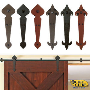 Details About Quiet Glide Locally Made Hand Forged Hammered Rolling Barn Door Hardware Kits