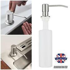 Sink Soap Lotion Liquid Pump Holder  Dispenser Stainless Steel Bathroom Kitchen