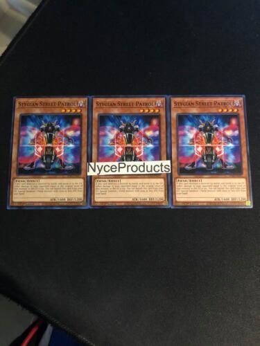 3x Stygian Street Patrol SDSA-EN015 Common Sacred Beast Playset Yugioh