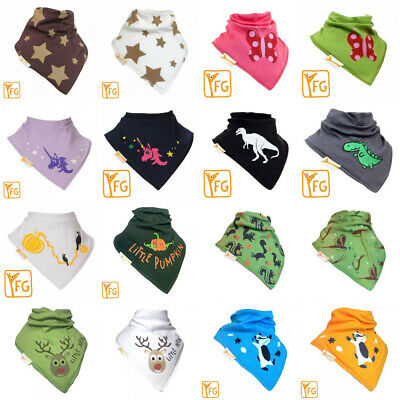 Funky Giraffe 2 x Bandana Bib Baby Toddler 100/% Cotton  Dribble Dry Fleece Back