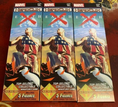 Marvel Heroclix Earth X Boosters x3