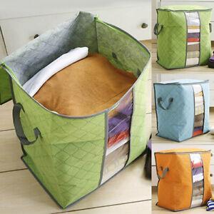 Foldable-Storage-Bag-Clothes-Blanket-Quilt-Closet-Sweater-Organizer-Box-Pouch