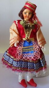 f3c10cc2a1adc Details about Vintage Doll in greek woman costume 1950s. Free shipping.
