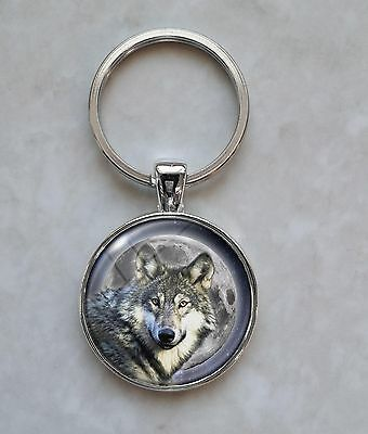 Wolf Wolves Moon Night Keychain