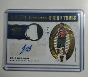 2020-2021 Crown Royale Eric Bledsoe Patch Auto /10 Knights of the Round Table