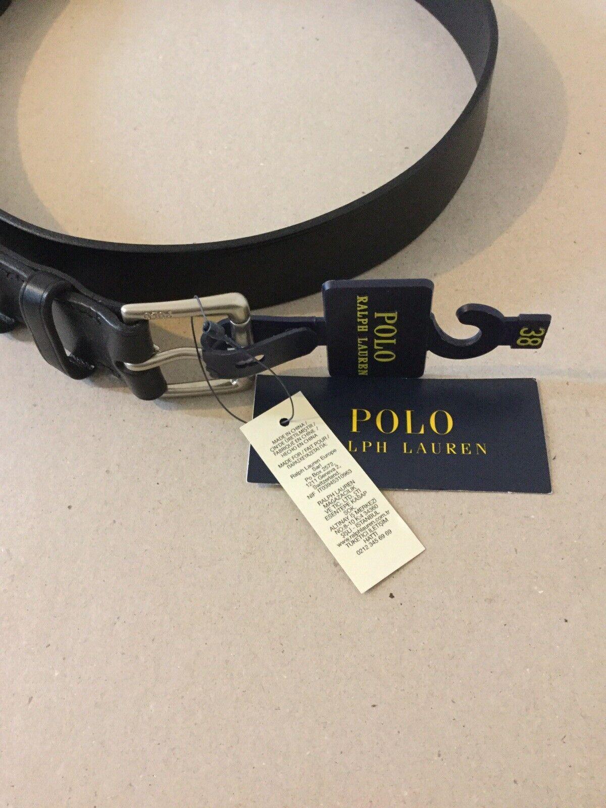 POLO Ralph Lauren Cintura Cintura Cintura in Pelle Tg 38 L UVP  7a6489