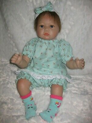 CPK doll clothes//16-18 inch//flower print cotton dress//bloomers//socks//hair bows