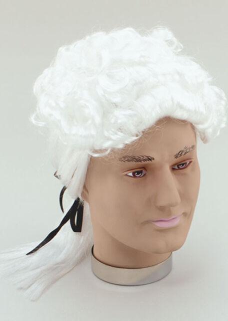 Christmas Pantomime Fancy Dress Gentleman's White Court Prince Wig