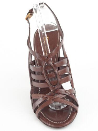 bruin 5 5 Prada 6 Nieuwe Retail690 lederen maat sandalen US 36 2EHIDW9