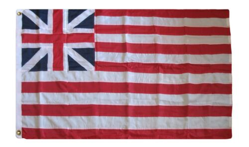 3x5 Embroidered Sewn UK Grand Union 300D Nylon Flag 3/'x5/' 2 Clips Heavy Duty