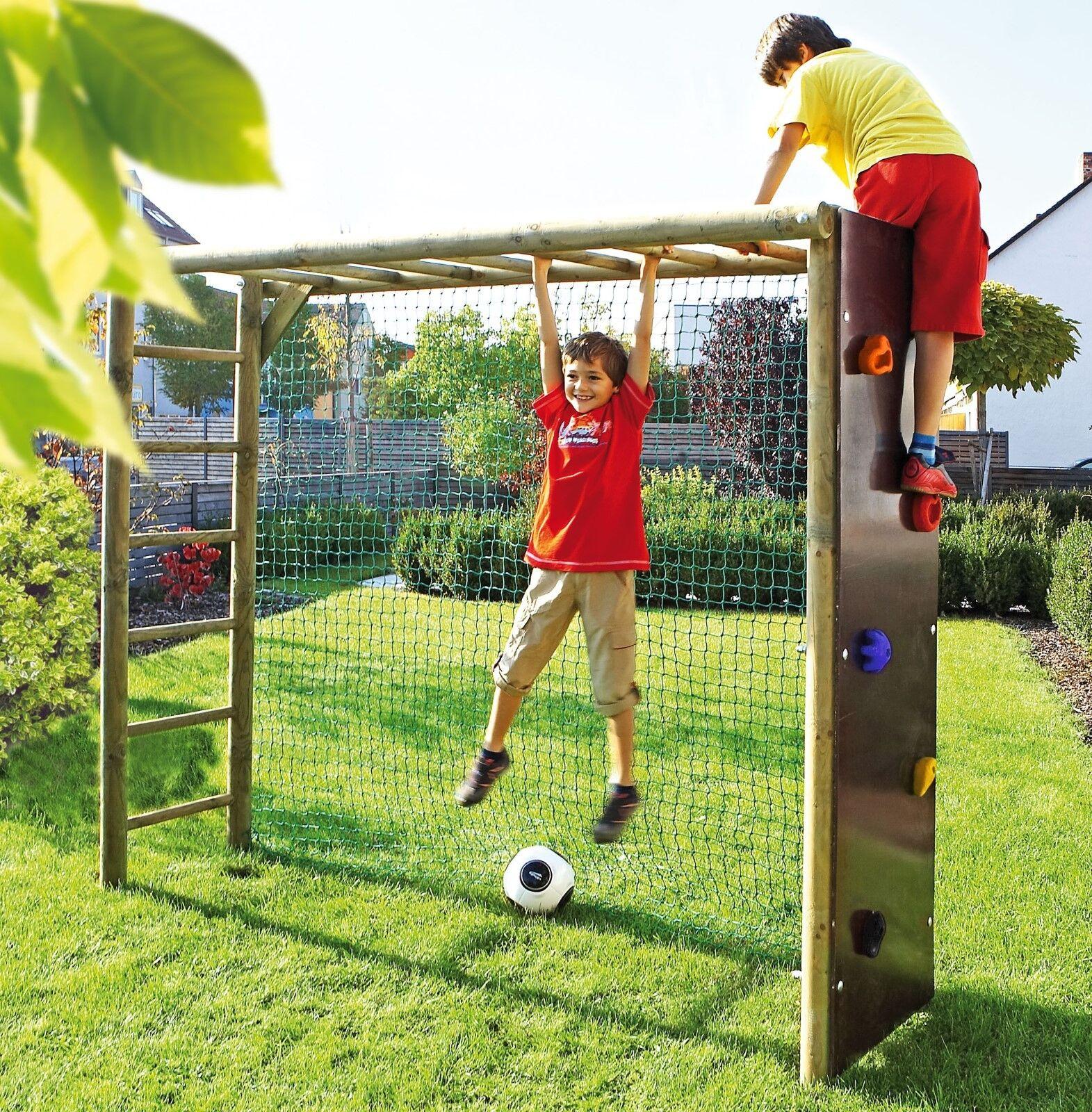 Bekletterbares Fußballtor für Kinder Fußballwand Holz Spielturm Spielturm Spielturm Klettergerüst 3a746a