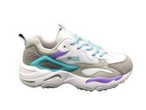 Details about FILA SNEAKERS RAY TRACER WMN WHITE-VIOLET TULIP-BLUE CURACAO  1010686.02D